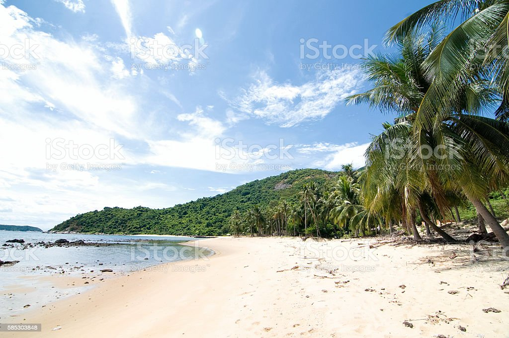 White and beach at Cham Island, Danang, Vietnam stock photo