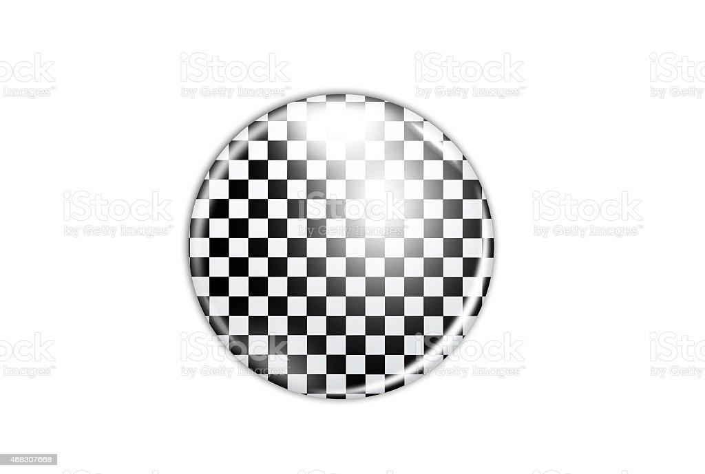 white and black badge isolated stock photo