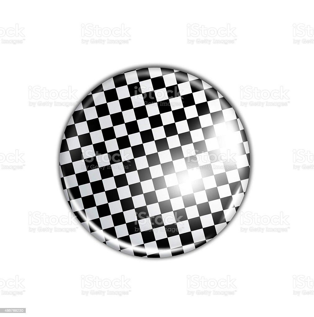 white and black badge stock photo