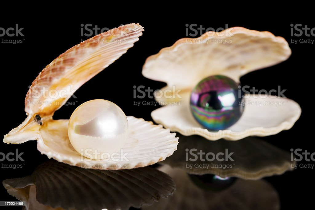 White and black pearl royalty-free stock photo