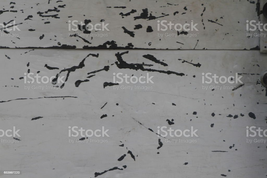 White and Black Peeling Paint Grunge Texture stock photo
