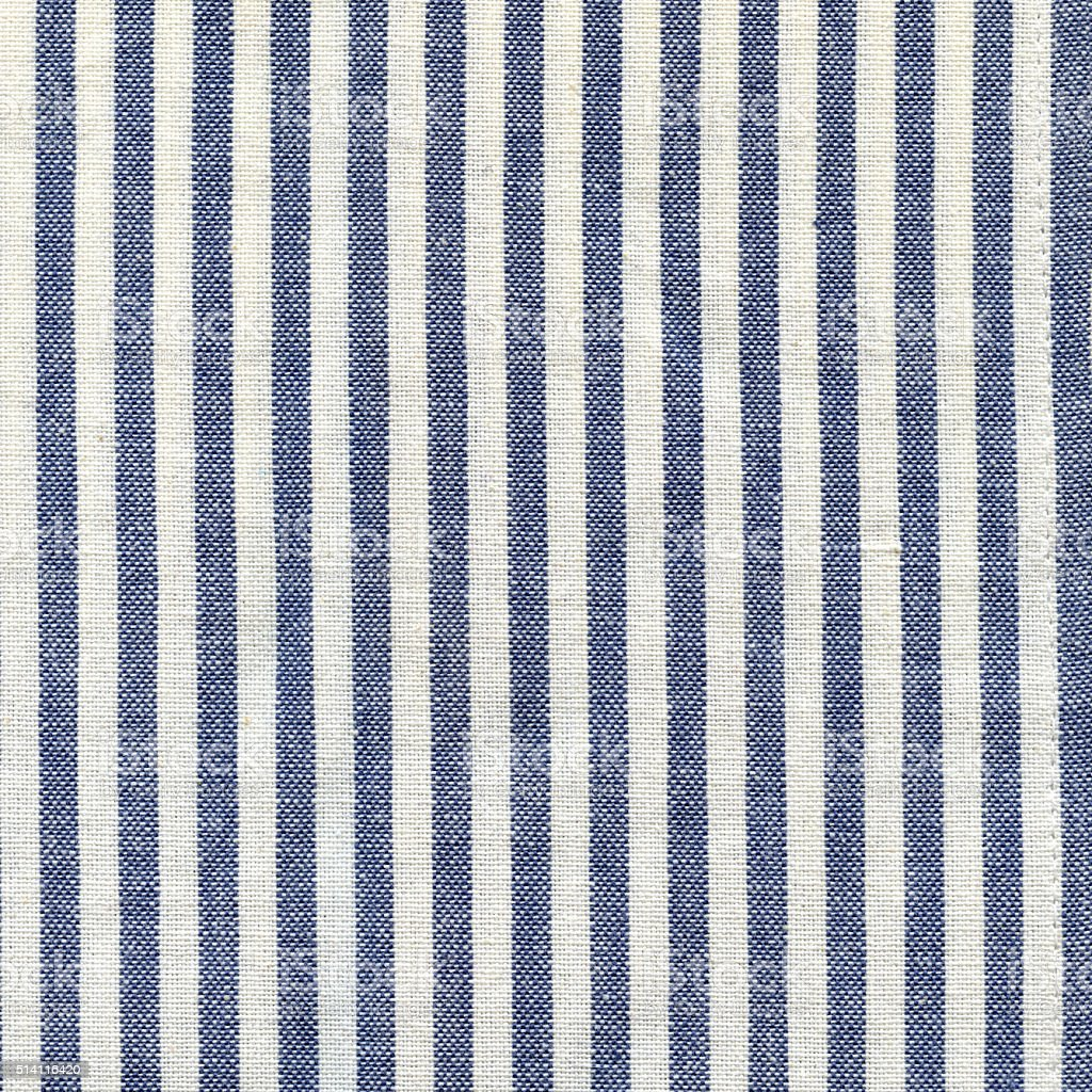 White and blue stripped tea towel cloth texture stock photo