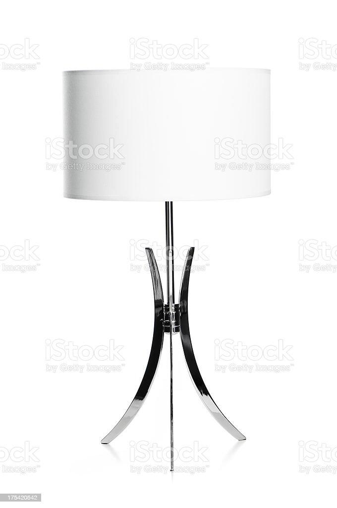 White and chrome lamp stock photo
