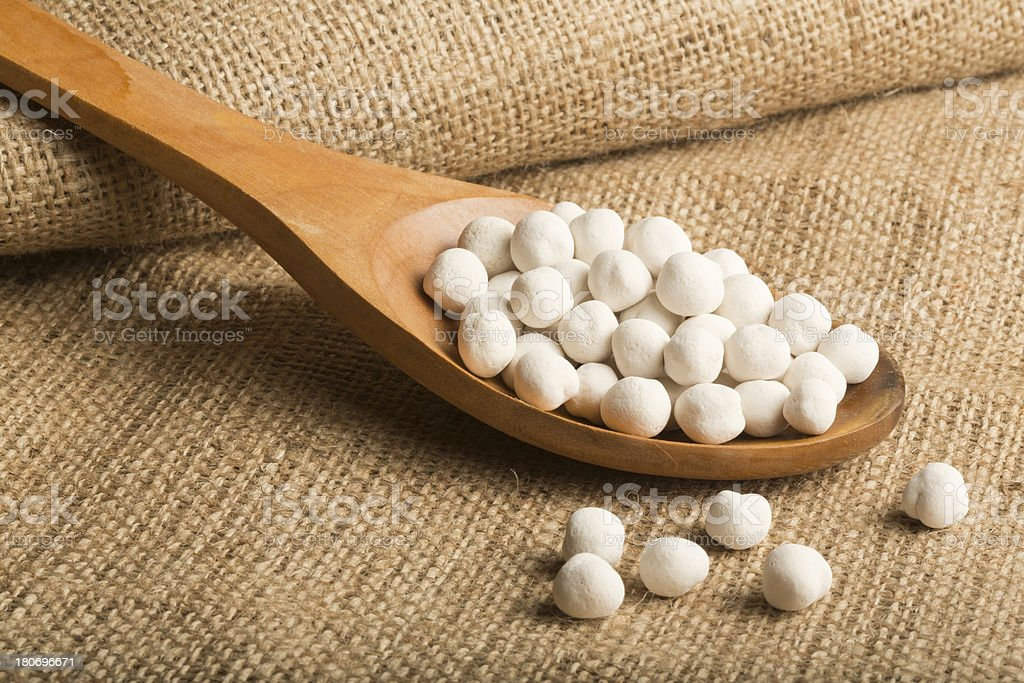 White and Coated Chickpeas royalty-free stock photo