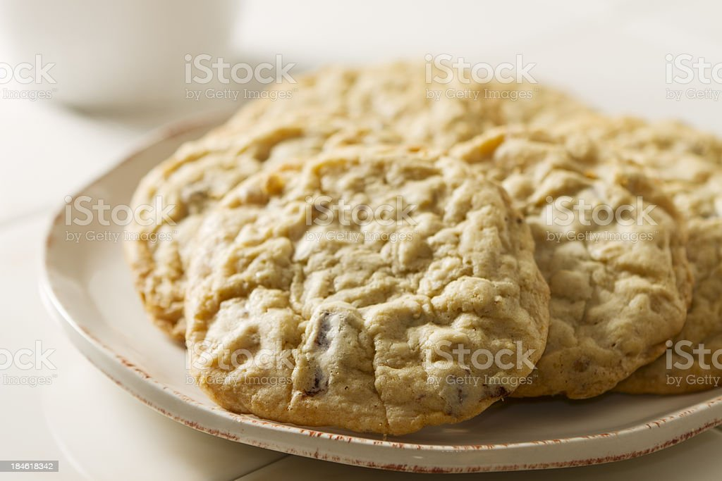 White and Dark Chocolate Chunk Cookies royalty-free stock photo