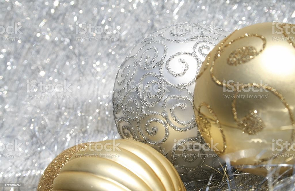 White and Gold Christmas border royalty-free stock photo