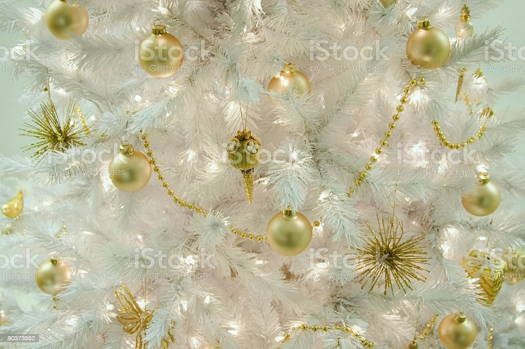 White and Gold Christmas royalty-free stock photo