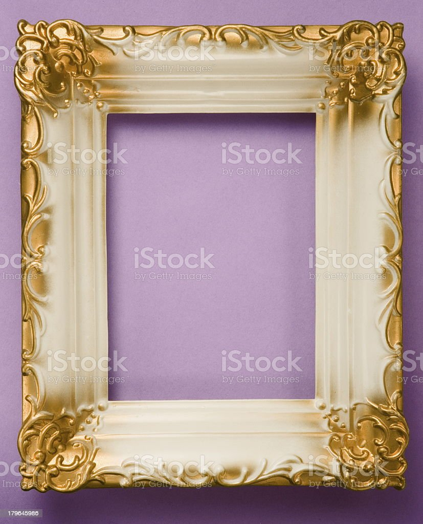 White and Gold Frame royalty-free stock photo