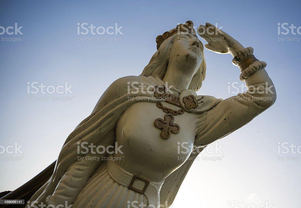 White and golden figurehead stock photo