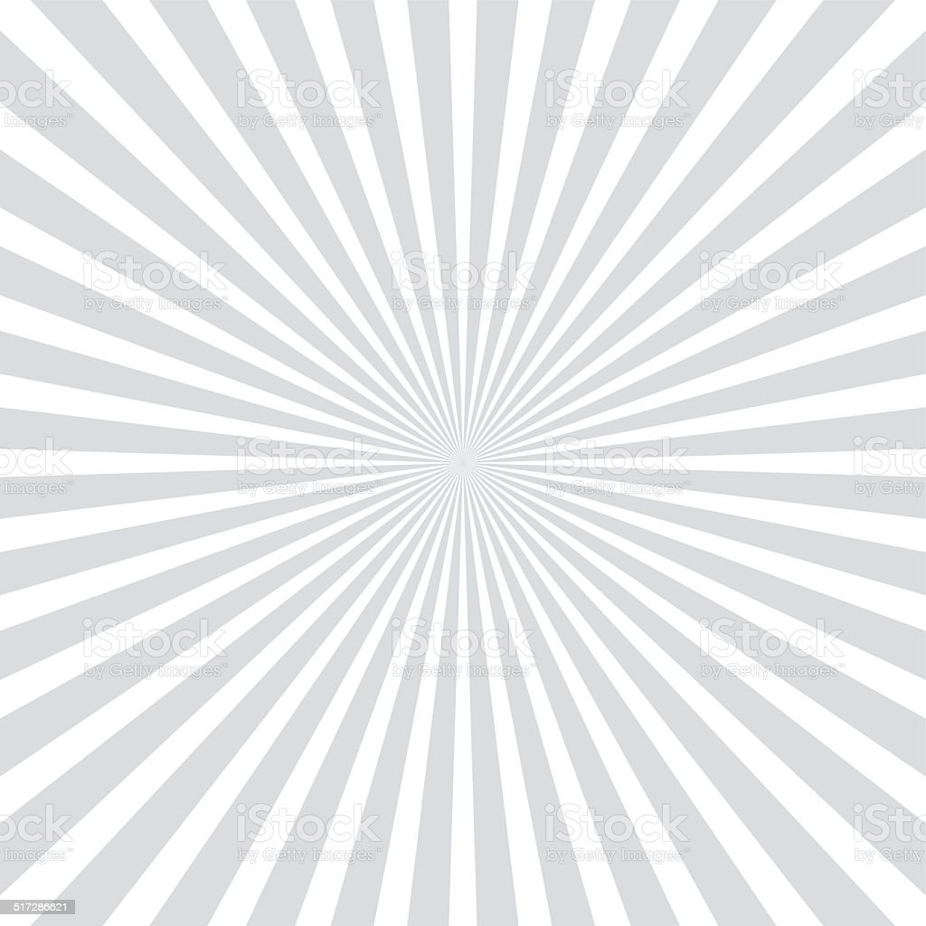 White and gray ray sunburst style abstract background stock photo