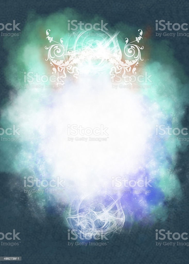 White and green abstract shape royalty-free stock photo