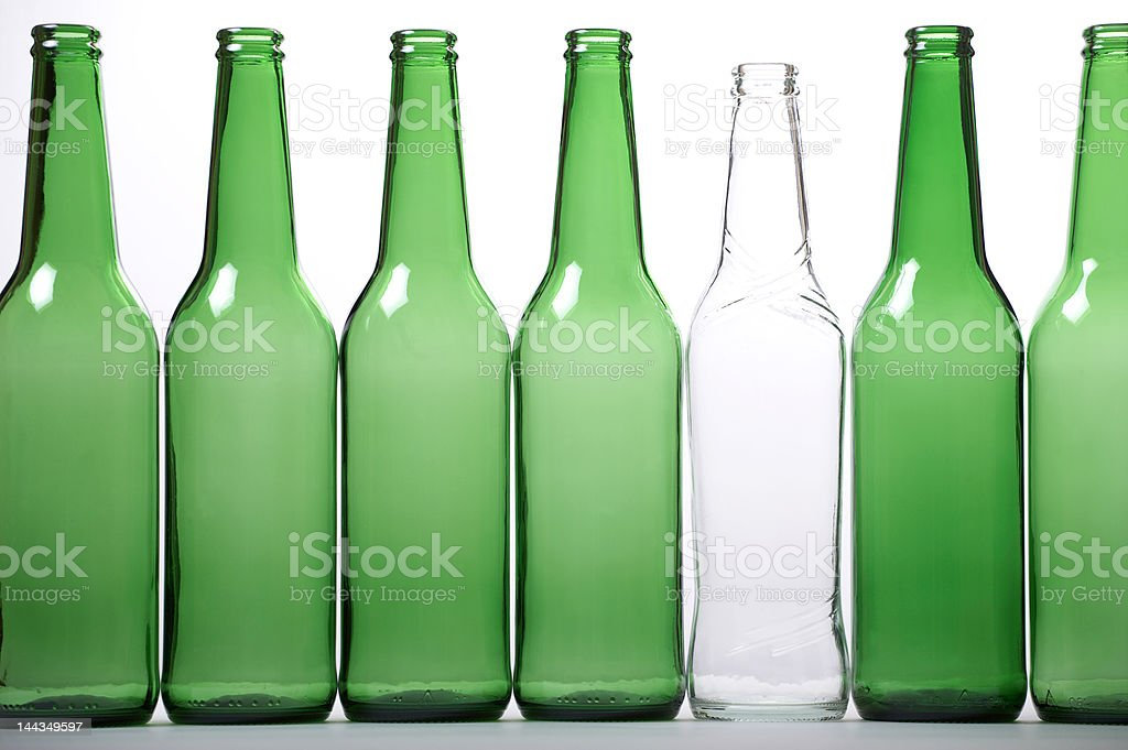 White and green bottles royalty-free stock photo