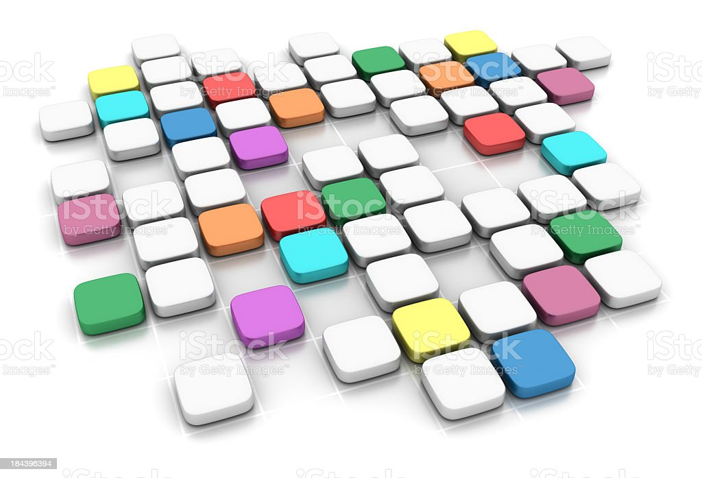White and Multicolored Blocks royalty-free stock photo
