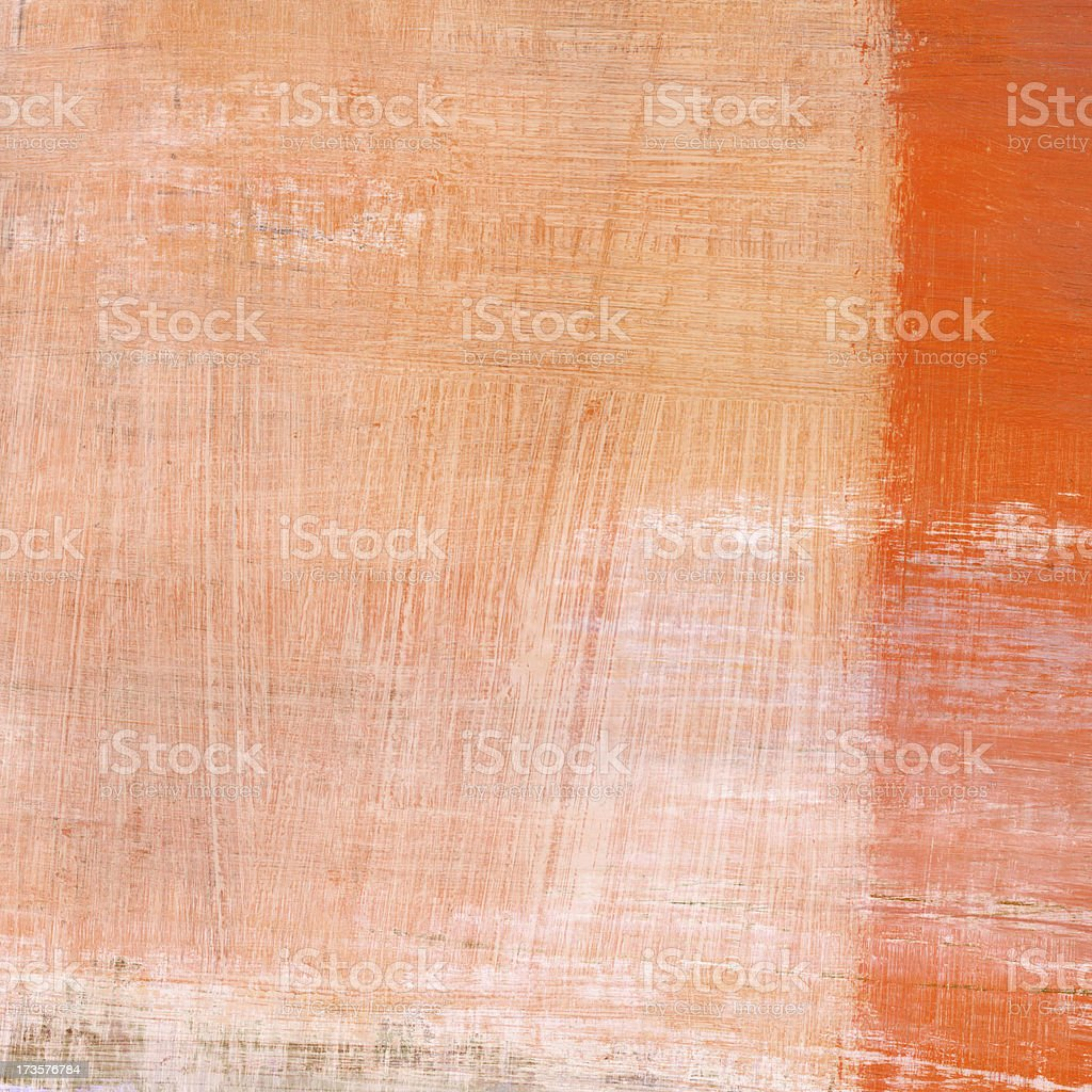 White and Orange Abstract Composition royalty-free stock photo