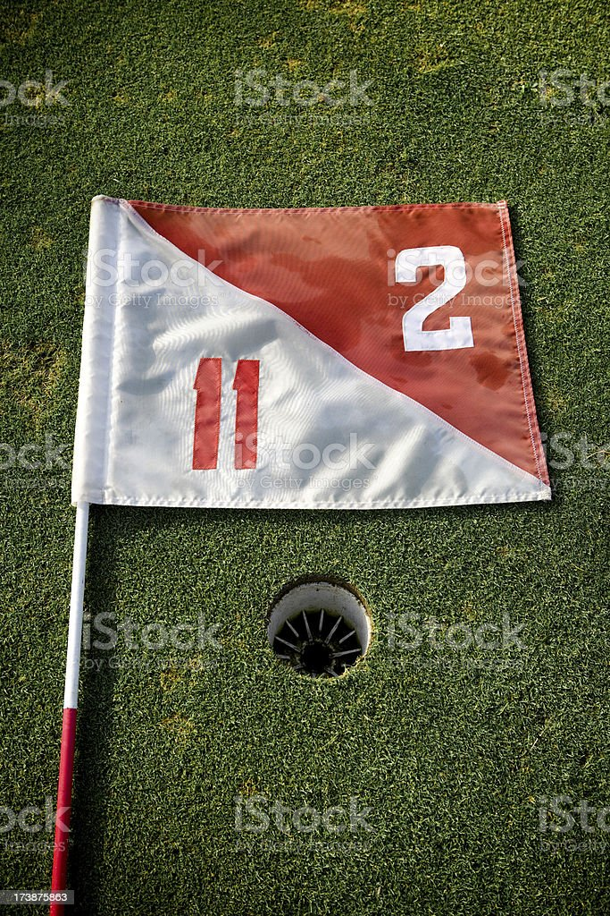 White and Red Flag royalty-free stock photo