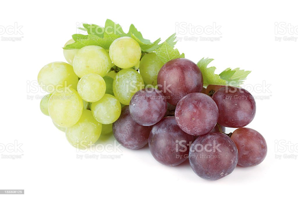 White and red grapes stock photo