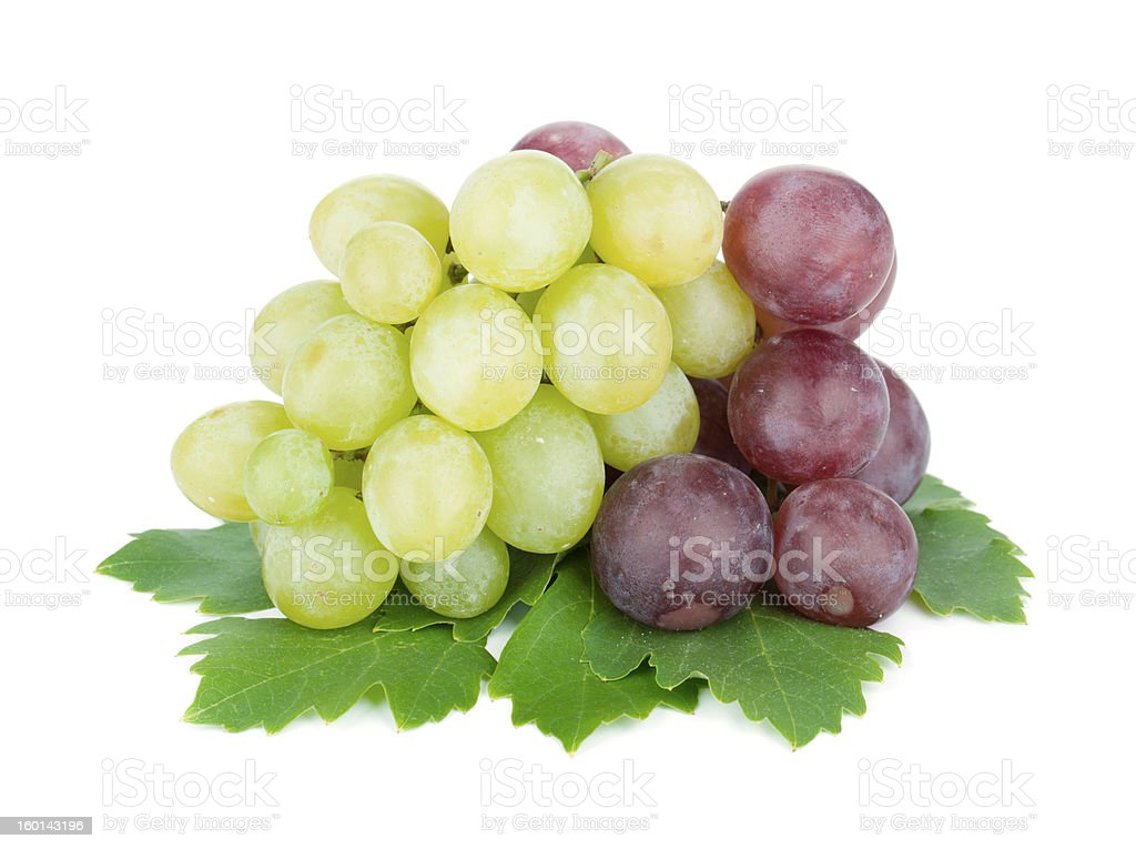 White and red grapes royalty-free stock photo