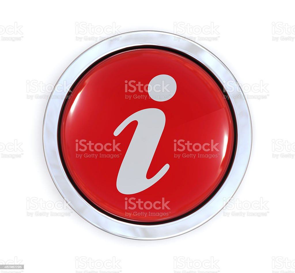 A white and red information button stock photo