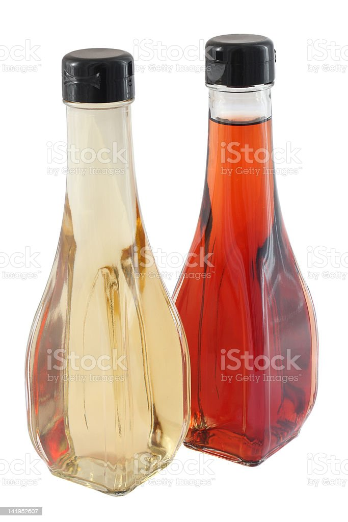 White and red vinegar royalty-free stock photo