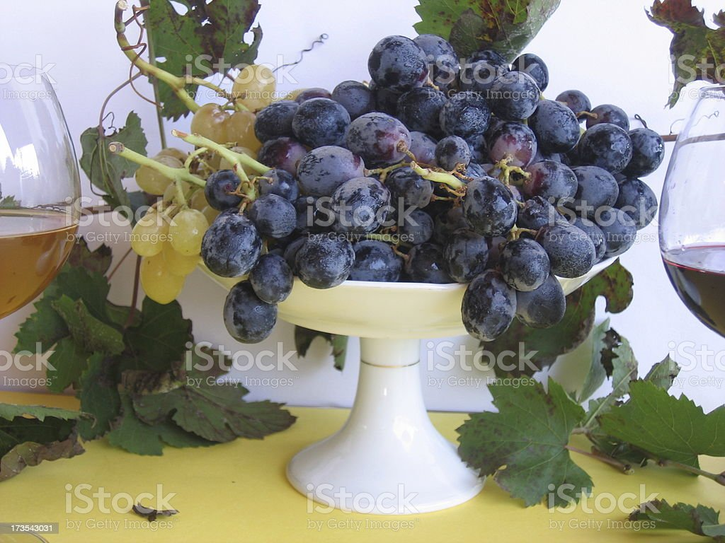 white and red wine stock photo