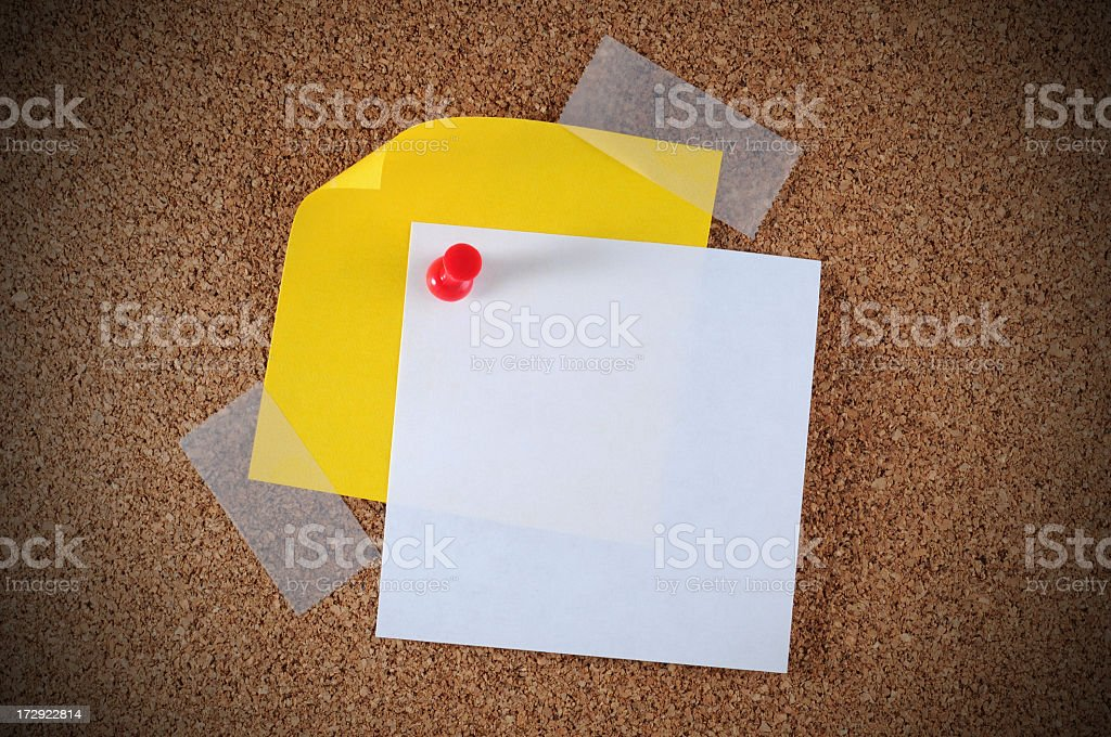 White and yellow memo notes royalty-free stock photo