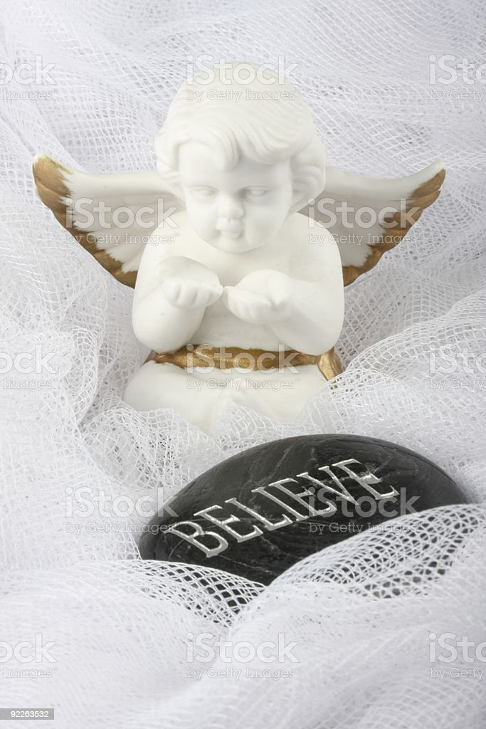 White Angel - Believe royalty-free stock photo