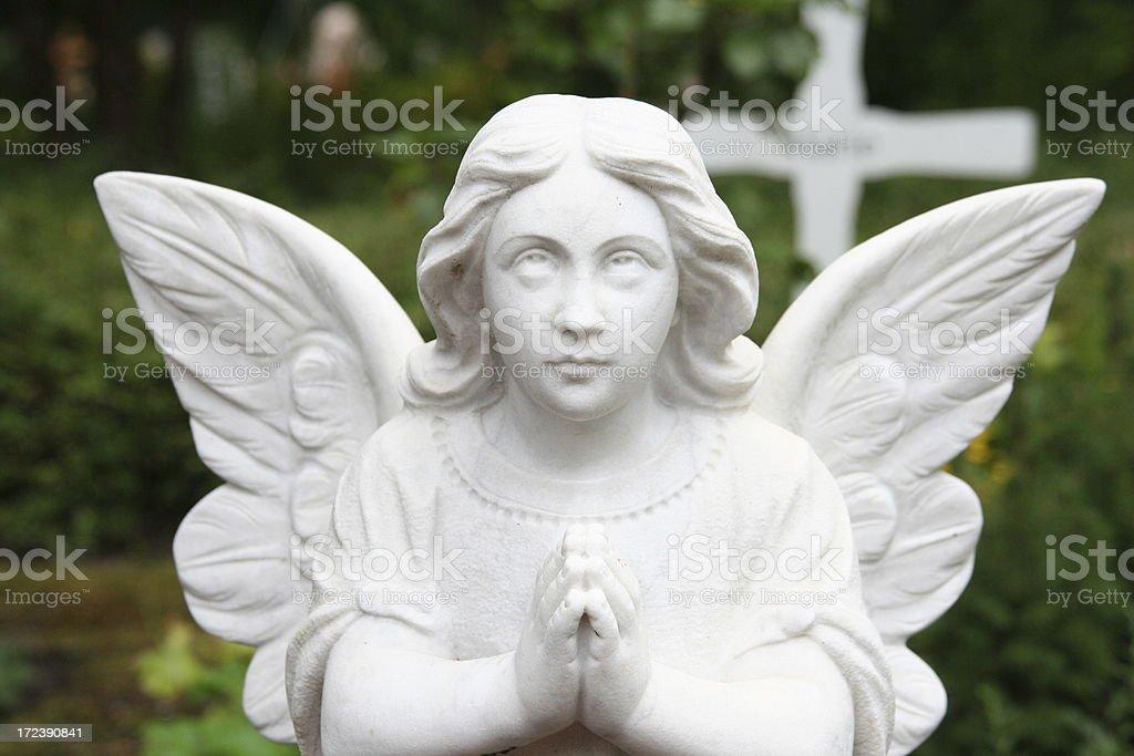 white angel stock photo