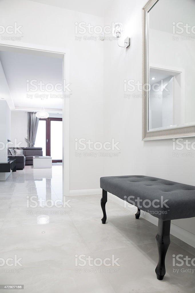 White anteroom stock photo