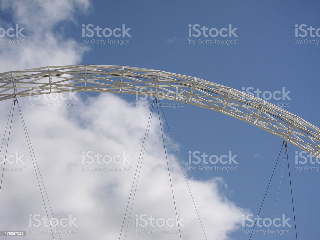 White arched framework stock photo