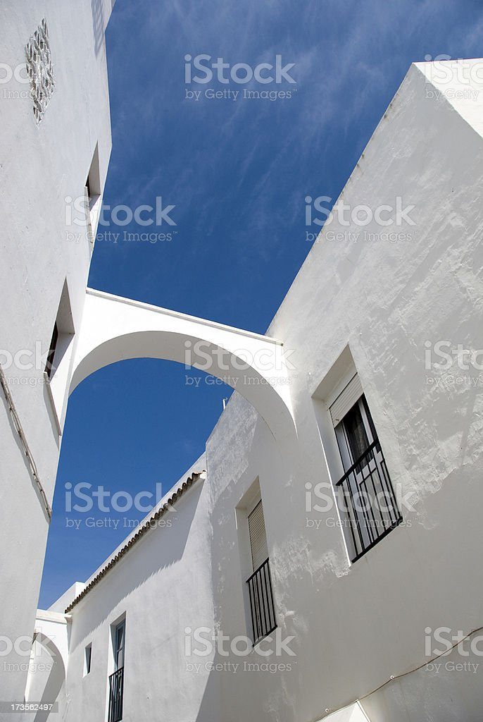White arches royalty-free stock photo