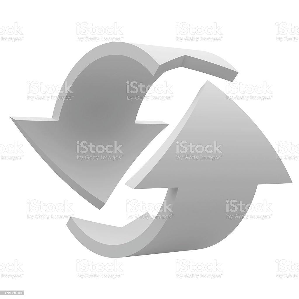 white Arrows sign stock photo