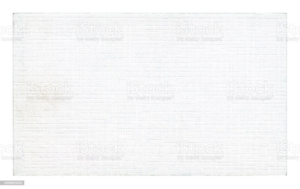 White art paper card textured background isolated on white stock photo