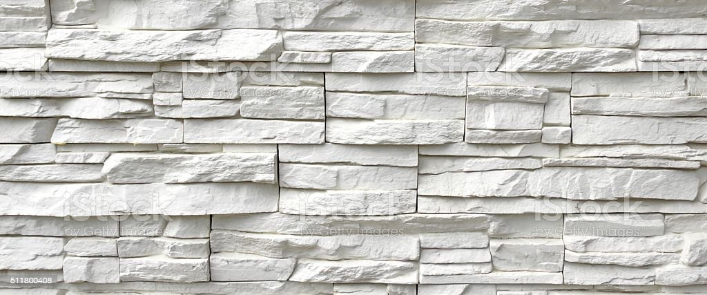 White Artificial Stone Wall stock photo