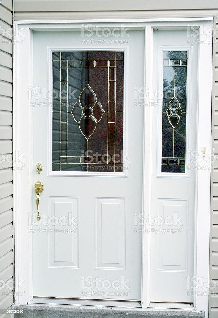 White Back Door royalty-free stock photo