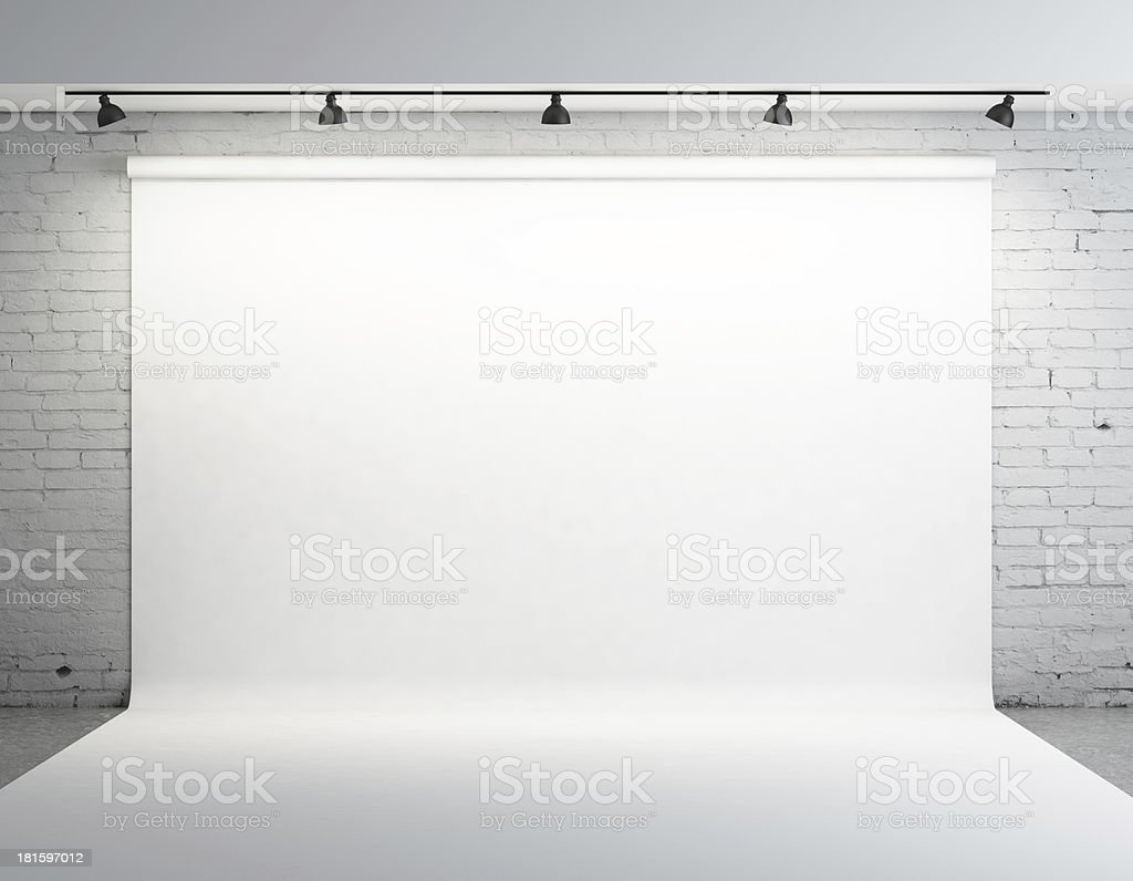 White backdrop stock photo