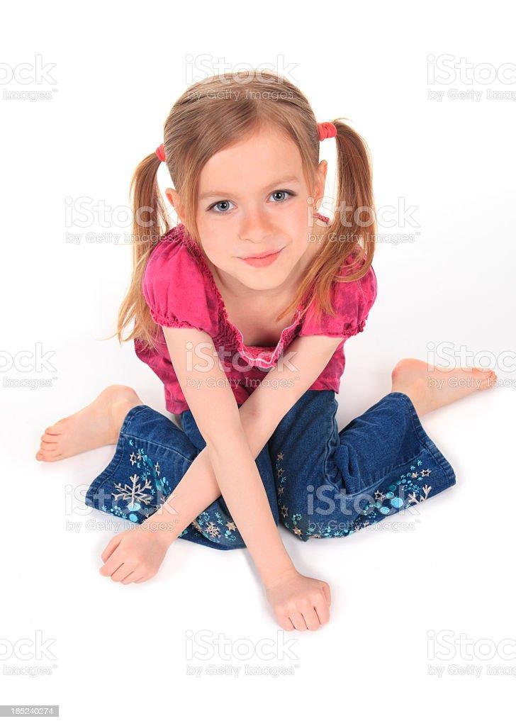 White Background Cross Arm Children royalty-free stock photo