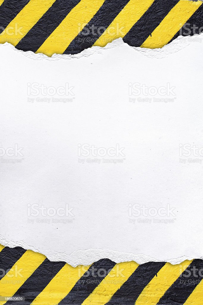 White background in yellow and black stripes. stock photo