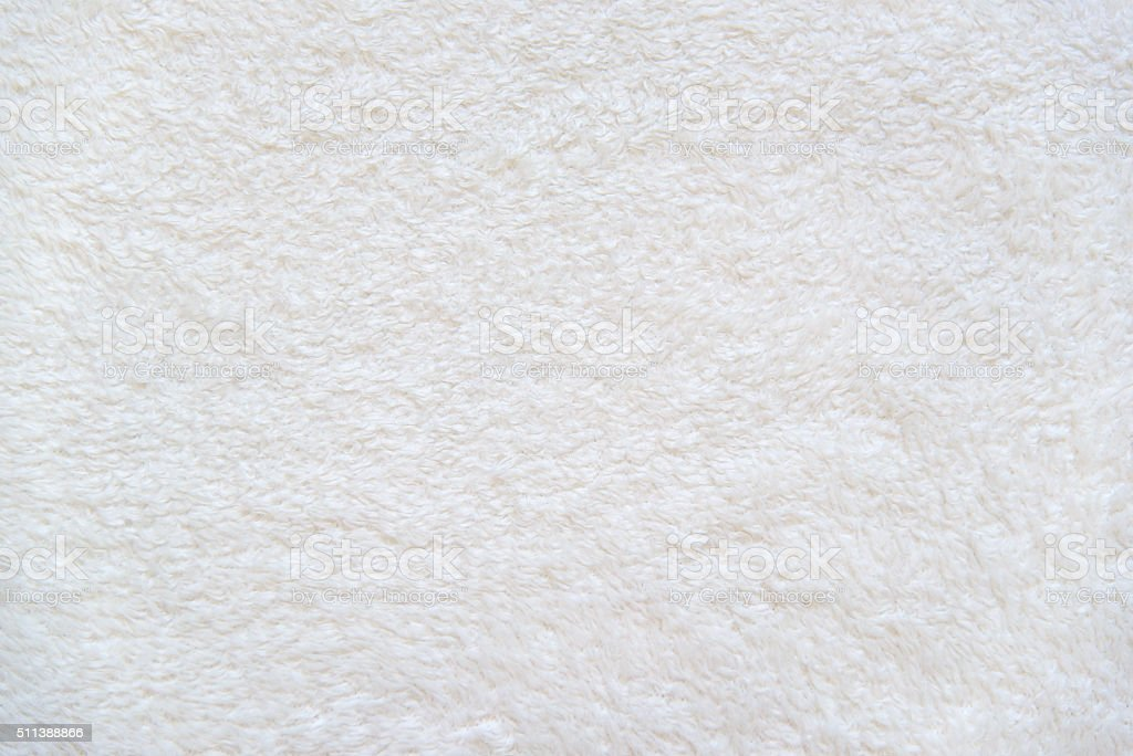 White background of plush fabric stock photo