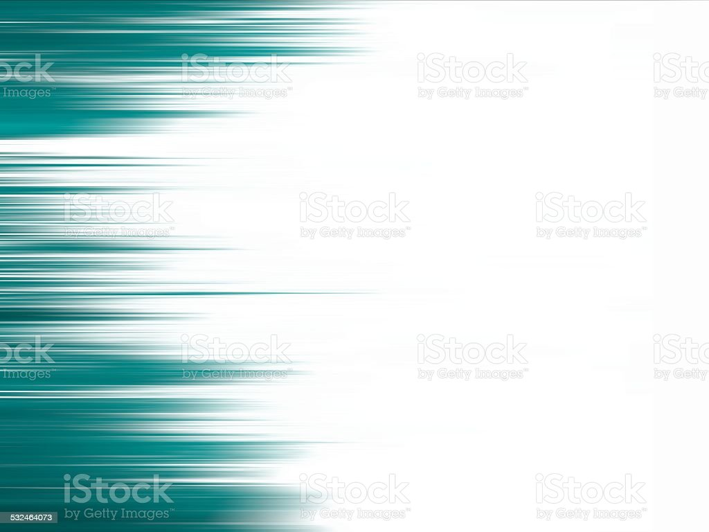 White background with teal streak edge stock photo