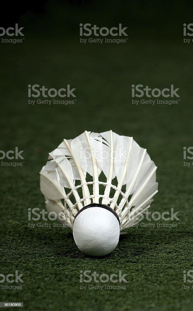 White badminton stock photo