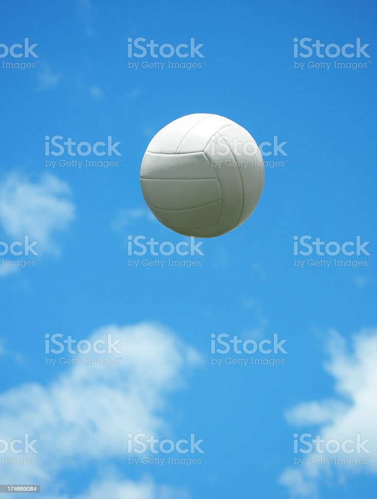 White ball floating in the air royalty-free stock photo