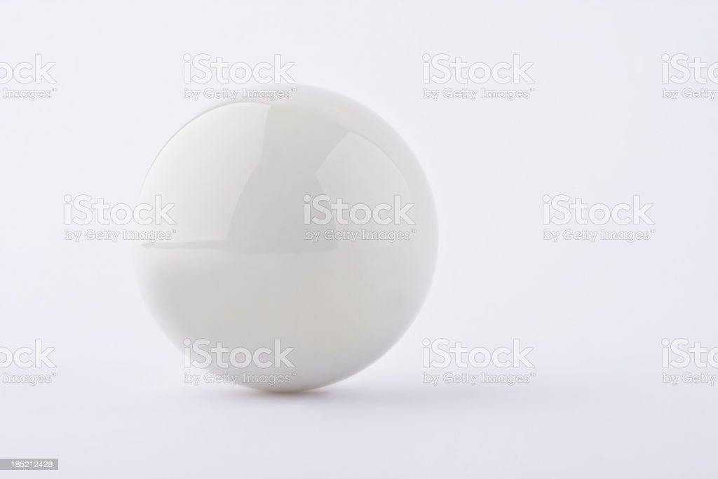 White ball on white background stock photo