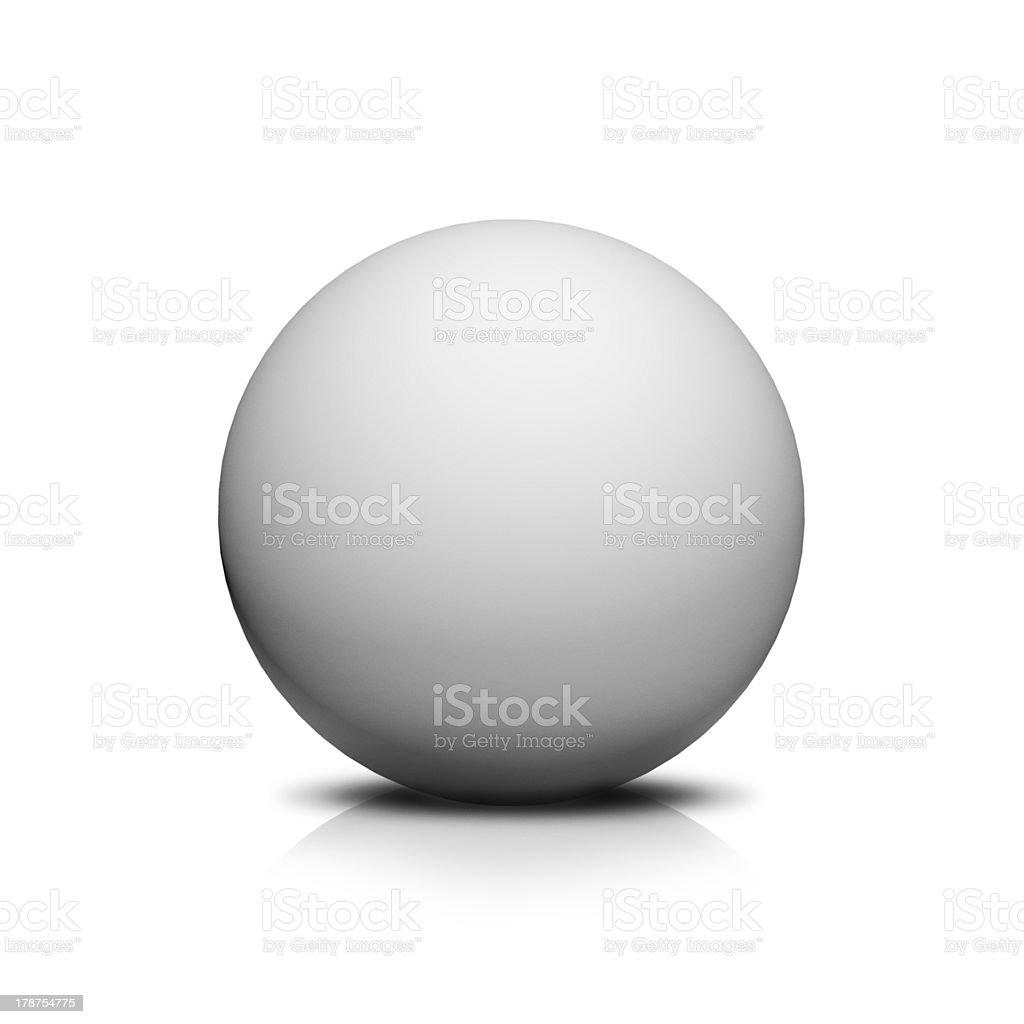 white ball stock photo