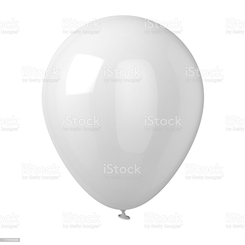 White Balloon stock photo