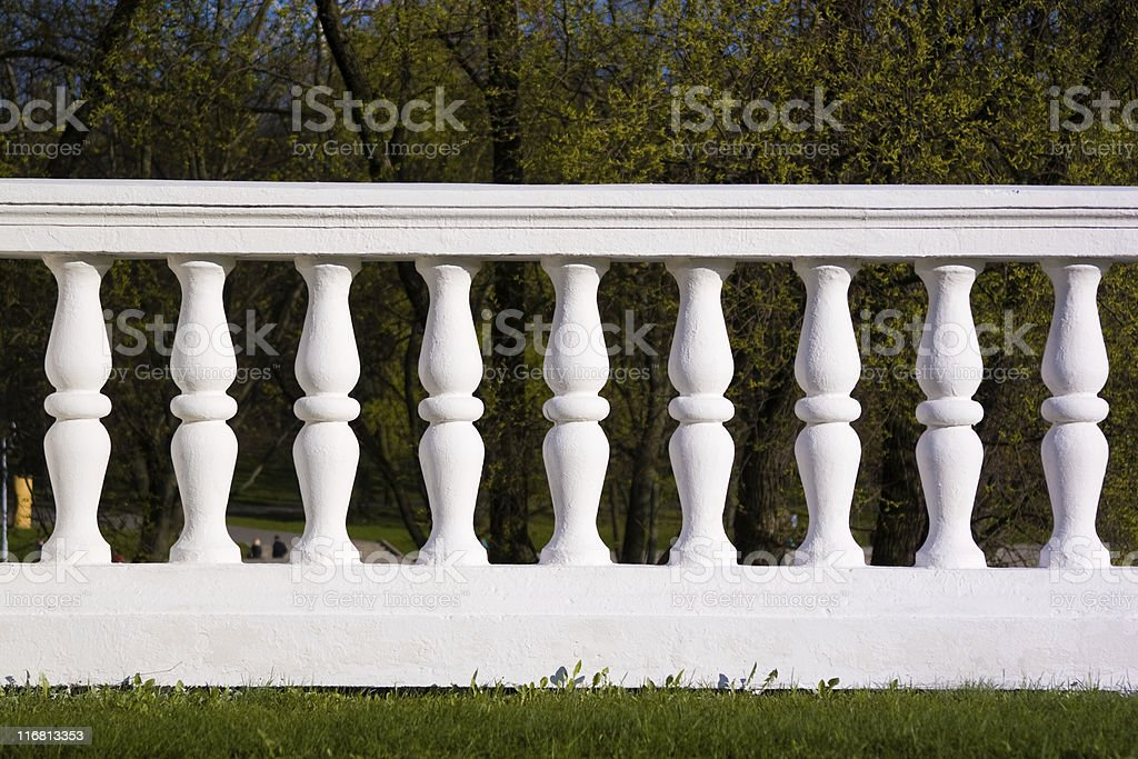 White ballustrade royalty-free stock photo