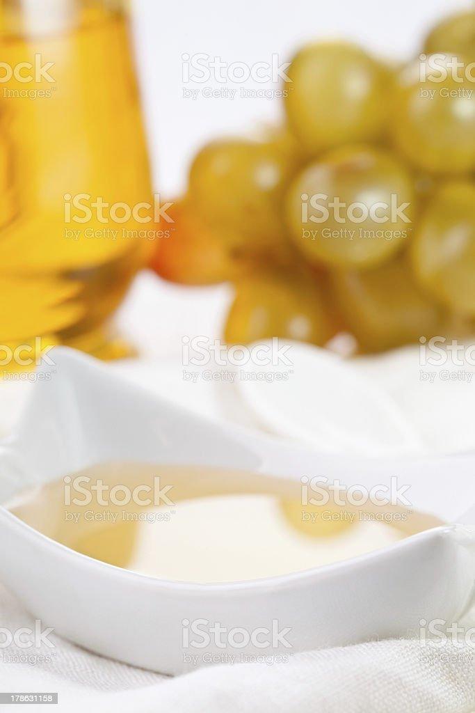 White balsamic vinegar royalty-free stock photo
