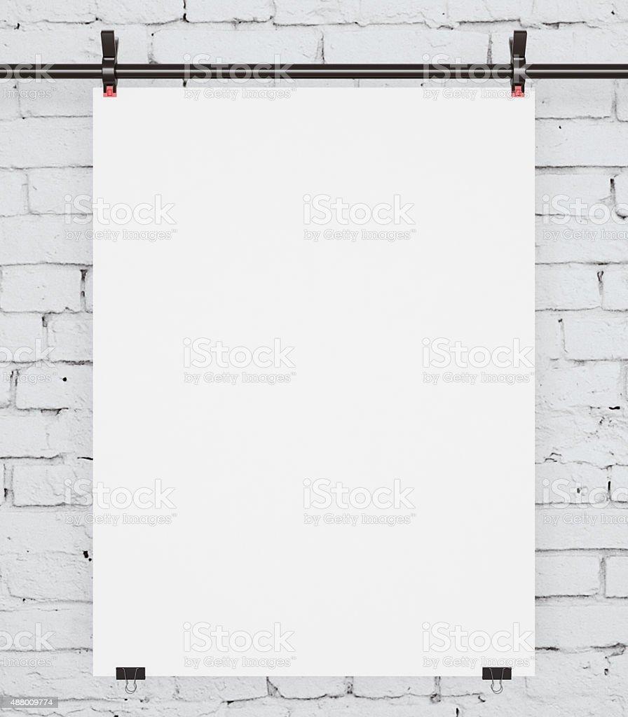 white baner stock photo