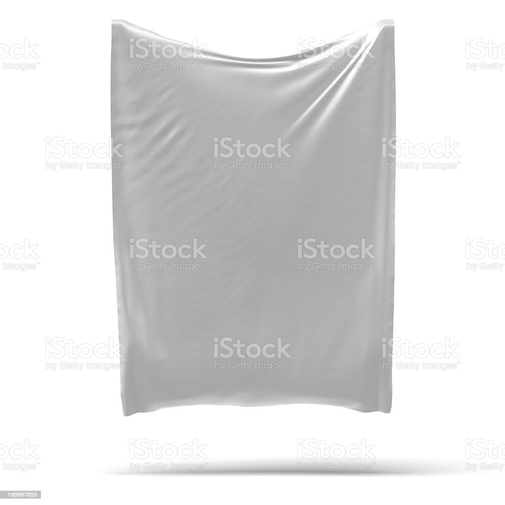 White banner with folds. stock photo