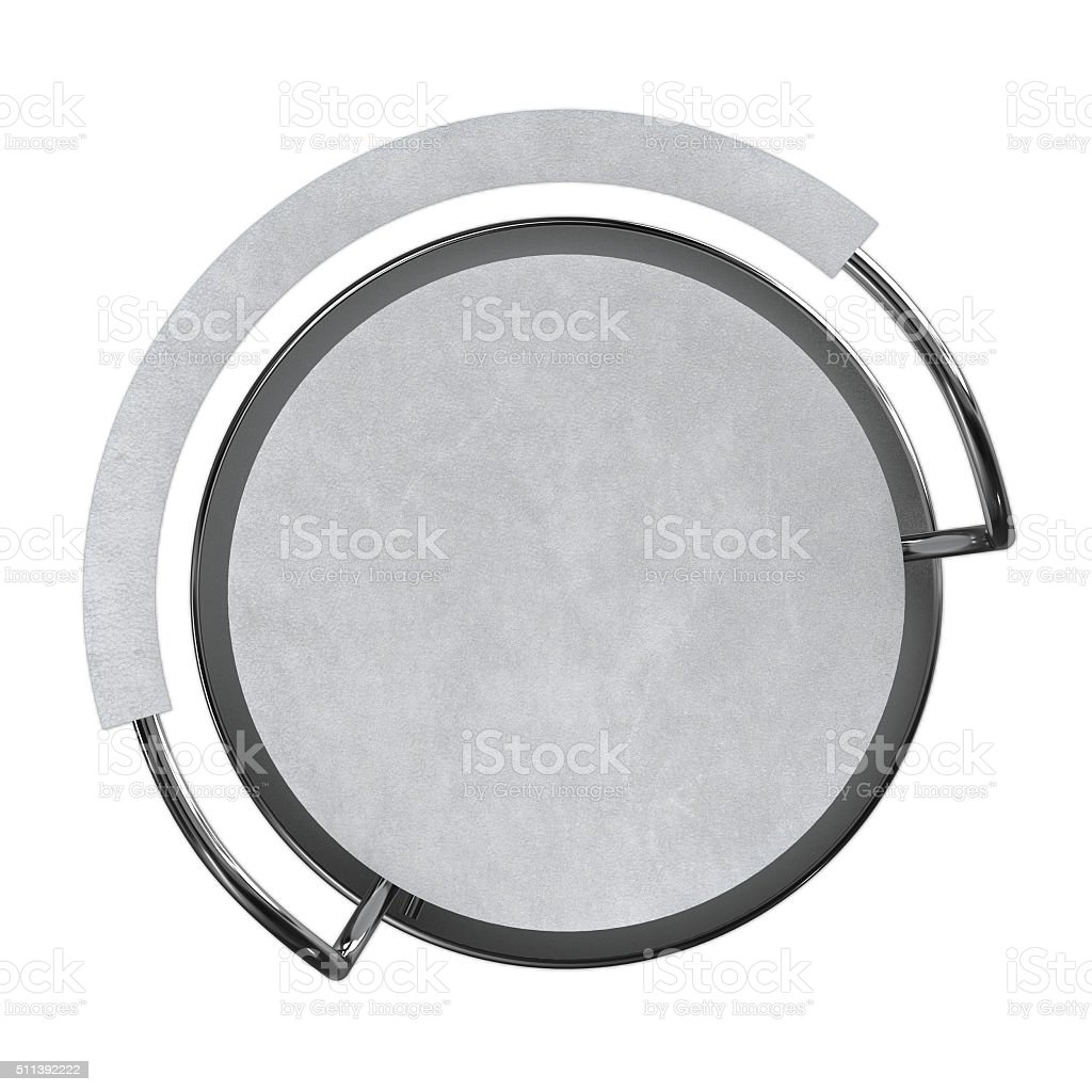 White bar stool top view stock photo