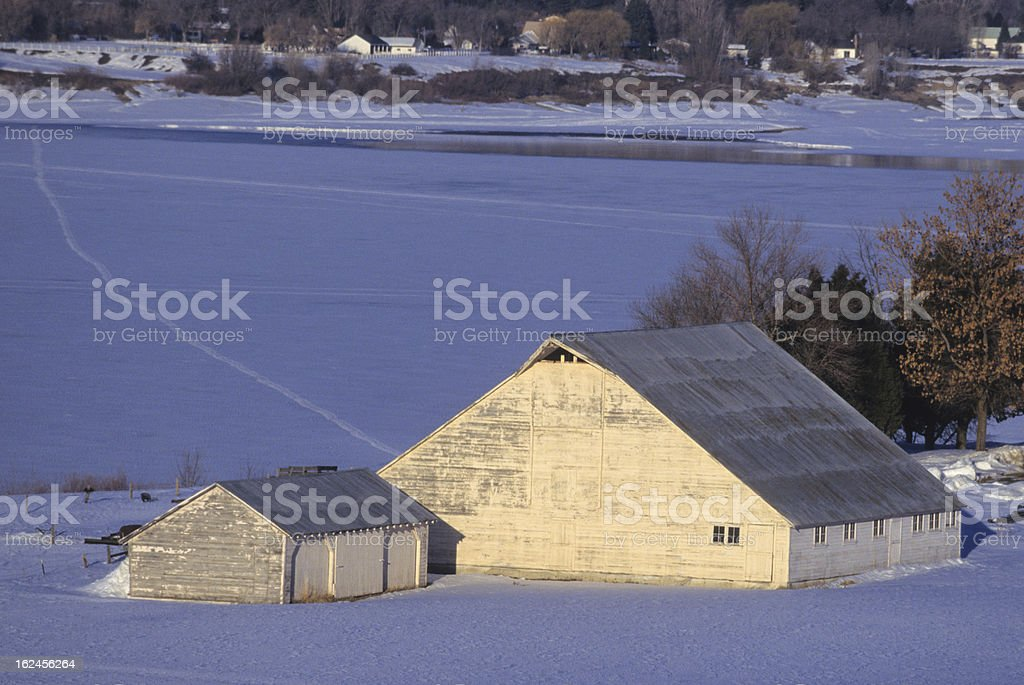 White Barn royalty-free stock photo